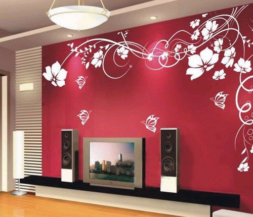 flowers wall decal - Designer Walls
