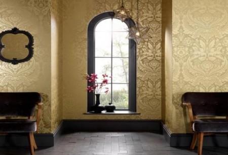 Gold-Damask-Modern-Wallpaper