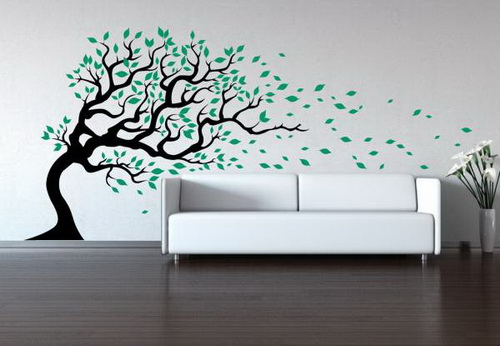 Tree in Wind Wall Decal