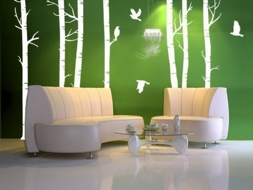 living room wall decal - Designer Walls