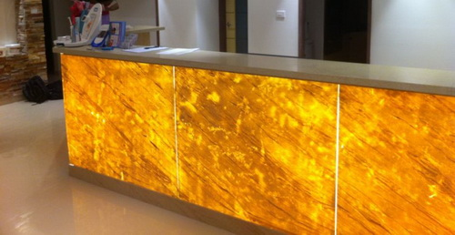 Translucent Stone Counter